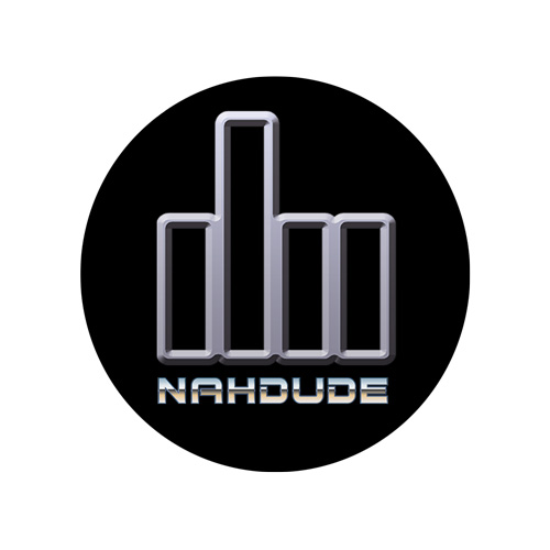 NahDude 2.5x2.5 Round Sticker Black